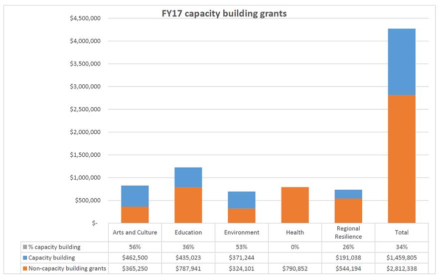 FY17 capacity building grants table